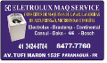 Classificados Grátis - ELETROLUX  MAQUINAS SERVICES ESPECIALIZADA